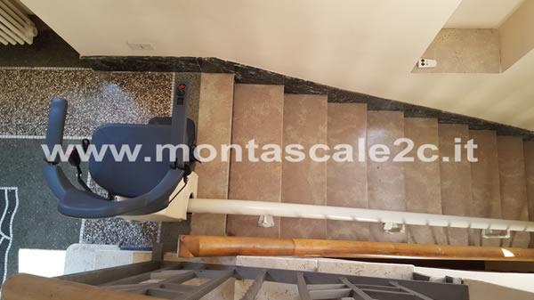 montascale, installazione eseguita a imperia porto maurizio