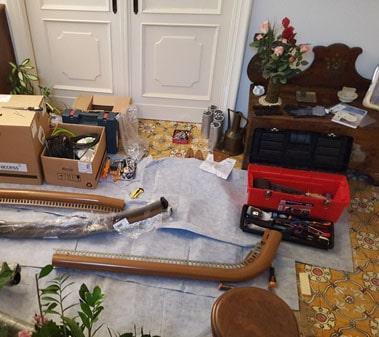Installazione montascale, ordine e pulizia in casa del cliente