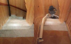 Prima e dopo l'installazione di un montascale