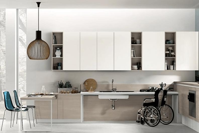Esempio Di Cucina Progettata Per Un Semplice Utilizzo Dei Disabili